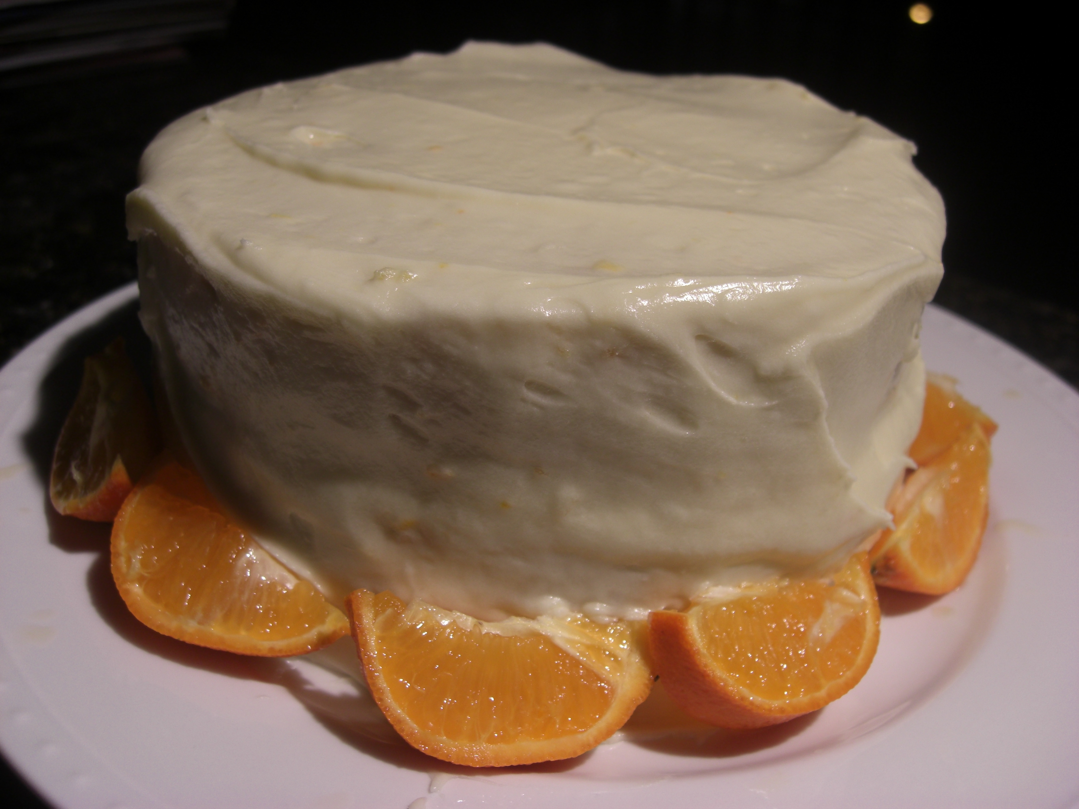 Clementine Cake with Clementine Buttercream | Growling Tummy
